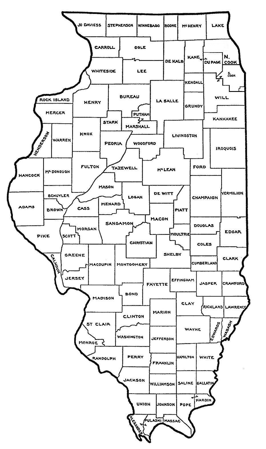 Illinois Map - Map in illinois